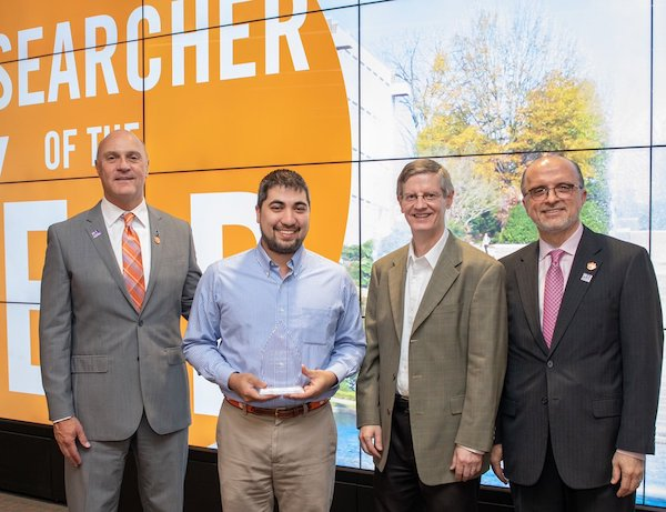 Dr. Blenner wins Clemson Junior Researcher of the Year