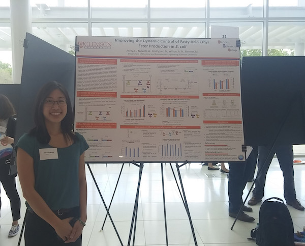 Allison Presents at Clemson Research Symposium
