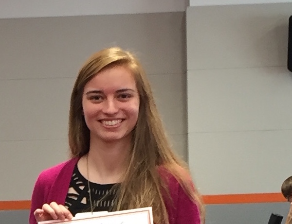 Lauren wins top award in College of Science